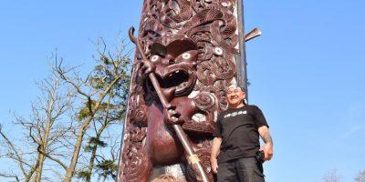 Pou Maumahara Memorial Carving